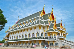 Buddhist temple. Construction of a Buddhist temple nearly completed Royalty Free Stock Image