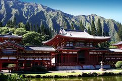 Buddhist Temple. This Buddhist temple is located on O'ahu in Hawaii Royalty Free Stock Images