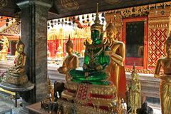 Buddhist temple. In Thailand stock images