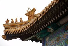 Buddhist temple. Roof of a Buddhist temple Royalty Free Stock Photos