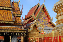 Buddhist temple. At Doi Suthep in northern Thailand royalty free stock images