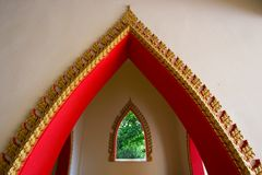 Buddhist temple arch Stock Images