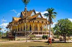 Buddhist Temple around Kratje,  Cambodia. Stock Photos