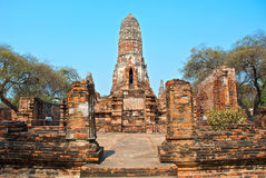 Buddhist temple in Ayutthaya Royalty Free Stock Photo