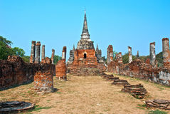 Buddhist temple in Ayutthaya Royalty Free Stock Images