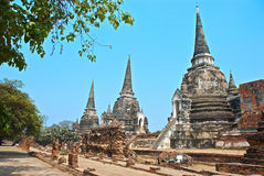 Buddhist temple in Ayutthaya Stock Photography