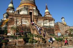 Buddhist temple in Ayutthaya Royalty Free Stock Image