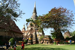 Buddhist temple in Ayutthaya Stock Photo