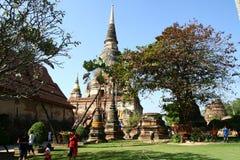 Buddhist temple in Ayutthaya Stock Photo