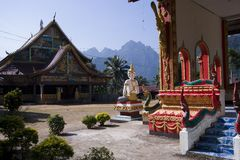 Buddhist temple at ban Phatang, Lao People Democratic Republic Royalty Free Stock Image