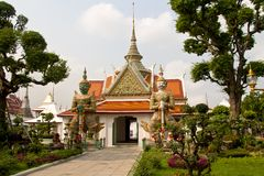 Buddhist temple in Bangkok. One of the buildings of the temple complex of Wat Arun in Bangkok Stock Photography