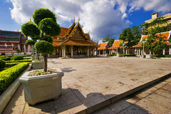 Buddhist temple in Bangkok. Royalty Free Stock Photos