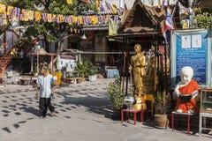 Buddhist temple in Bangkok Royalty Free Stock Image