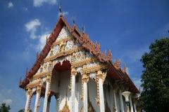 Buddhist temple, Bangkok, Thailand. Buddhist temple under a blue sky, Bangkok, Thailand Stock Images