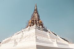 Buddhist temple in Bangkok, Thailand royalty free stock image