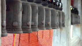 Buddhist Temple Bells stock video footage