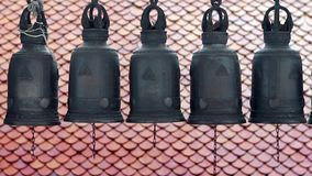 Buddhist Temple Bells stock video
