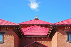 Buddhist temple and blue sky Royalty Free Stock Photography