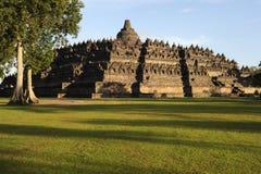 Buddhist temple of Borobudur on the island of Java Stock Photos