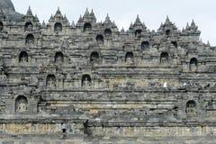 Buddhist temple of Borobudur on the island of Java Stock Photography