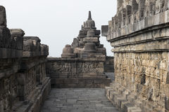 Buddhist temple of Borobudur, Java Stock Photo