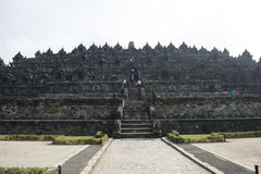 Buddhist temple of Borobudur, Java Stock Photography