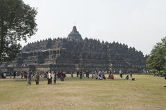Buddhist temple of Borobudur, Java Royalty Free Stock Images
