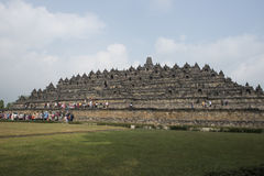 Buddhist temple of Borobudur, Java Stock Image