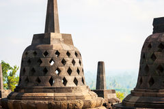 Buddhist temple Borobudur, Magelang, Indonesia Royalty Free Stock Photos