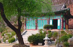 Buddhist temple building. A small buddhist temple in South Korea Royalty Free Stock Images