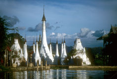Buddhist Temple, built on  Inle Lake Royalty Free Stock Images