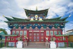 Buddhist temple in Buryatia Royalty Free Stock Photo