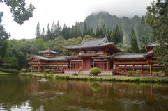 Buddhist Temple Byodo-In. Front view Buddhist Temple Byodo-In. Oahu, Hawaii, USA, EEUU Royalty Free Stock Photos