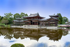 Buddhist temple Byodoin in Uji near Kyoto. Japanese Buddhist temple Byodoin in Uji village near Kyoto Royalty Free Stock Photos