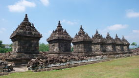 Buddhist temple of candi plaosan lor Stock Images