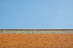 Buddhist temple ceramic roof Stock Image