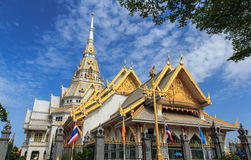 Buddhist temple in Chachoengsao Stock Images