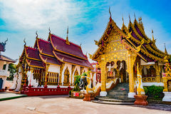 Buddhist Temple Chiang Mai, Thailand Stock Photos