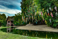 Buddhist temple Chiang Mai, Thailand Royalty Free Stock Photography