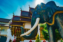 Buddhist temple Chiang Mai, Thailand Royalty Free Stock Photos