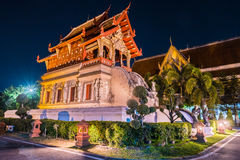 Buddhist temple Chiang Mai, Thailand Stock Images