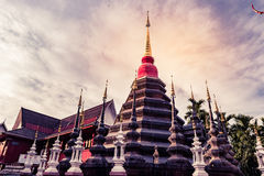 Buddhist temple Chiang Mai, Thailand Royalty Free Stock Images