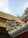 Buddhist temple with Chinese art roof Stock Photo