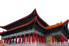 Buddhist temple of chinese style. Classical wooden gable on the roof tile Royalty Free Stock Images