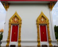 Buddhist Temple Church window Royalty Free Stock Images