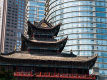 Buddhist temple in the city centre Royalty Free Stock Images