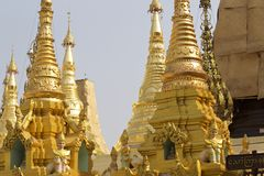 Buddhist temple complex Shwedagon is a historical symbol of Buddhism, Myanmar. Buddhist temple complex Shwedagon is a historical symbol of Buddhism, Yangon stock images