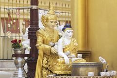 Buddhist temple complex Shwedagon is a historical symbol of Buddhism, Myanmar. Buddhist temple complex Shwedagon is a historical symbol of Buddhism, Yangon stock photography