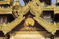 Buddhist temple complex Shwedagon is a historical symbol of Buddhism, Myanmar. Buddhist temple complex Shwedagon is a historical symbol of Buddhism, Yangon royalty free stock images