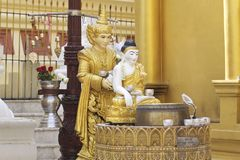 Buddhist temple complex Shwedagon is a historical symbol of Buddhism, Myanmar. Buddhist temple complex Shwedagon is a historical symbol of Buddhism, Yangon royalty free stock photos